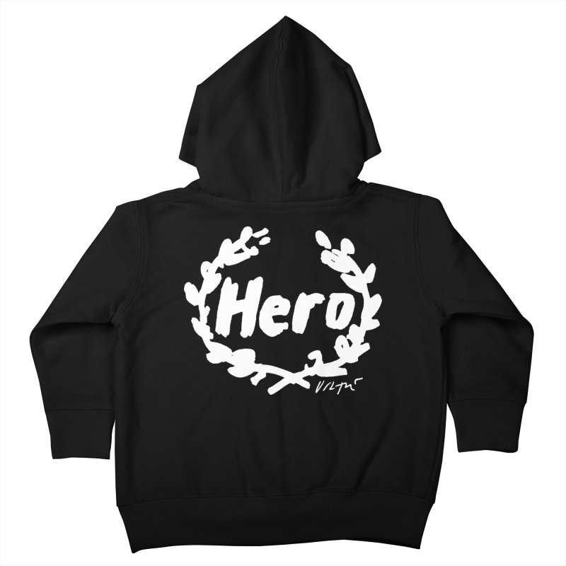 Hero (black) Kids Toddler Zip-Up Hoody by James Victore's Artist Shop