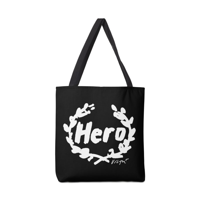 Hero (black) Accessories Tote Bag Bag by James Victore's Artist Shop