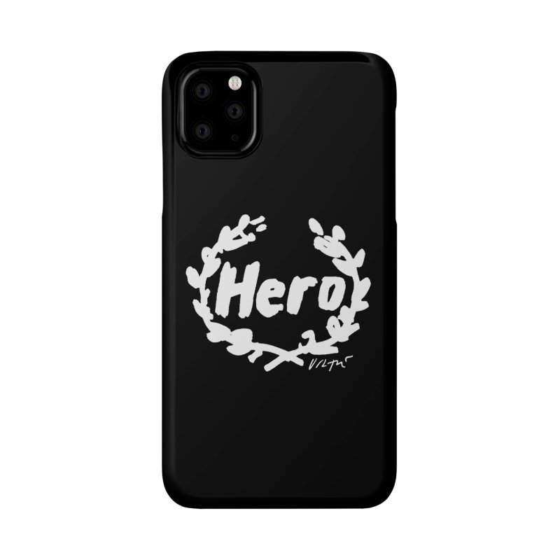 Hero (black) Accessories Phone Case by James Victore's Artist Shop