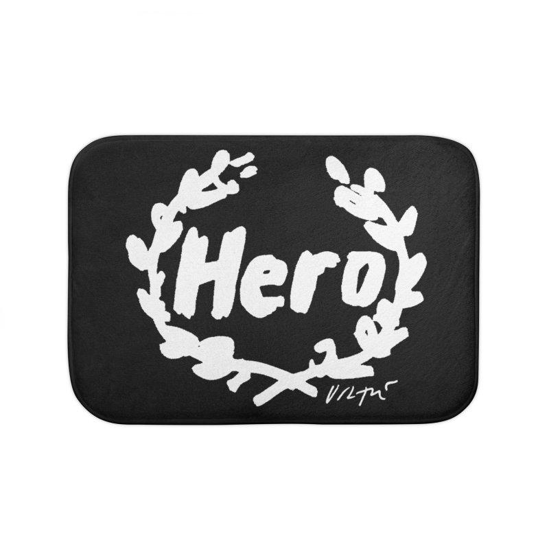 Hero (black) Home Bath Mat by James Victore's Artist Shop