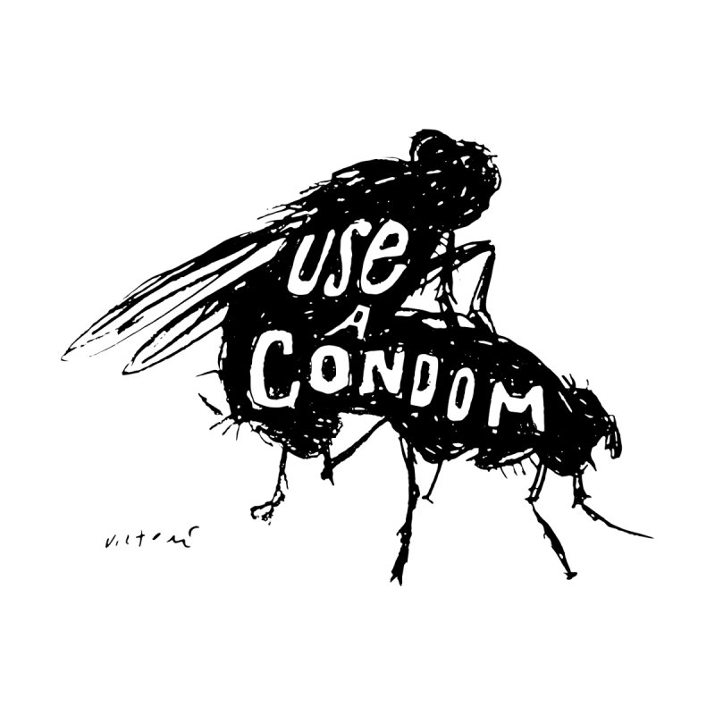 Use A Condom/Bugs Women's Classic Unisex T-Shirt by James Victore's Artist Shop