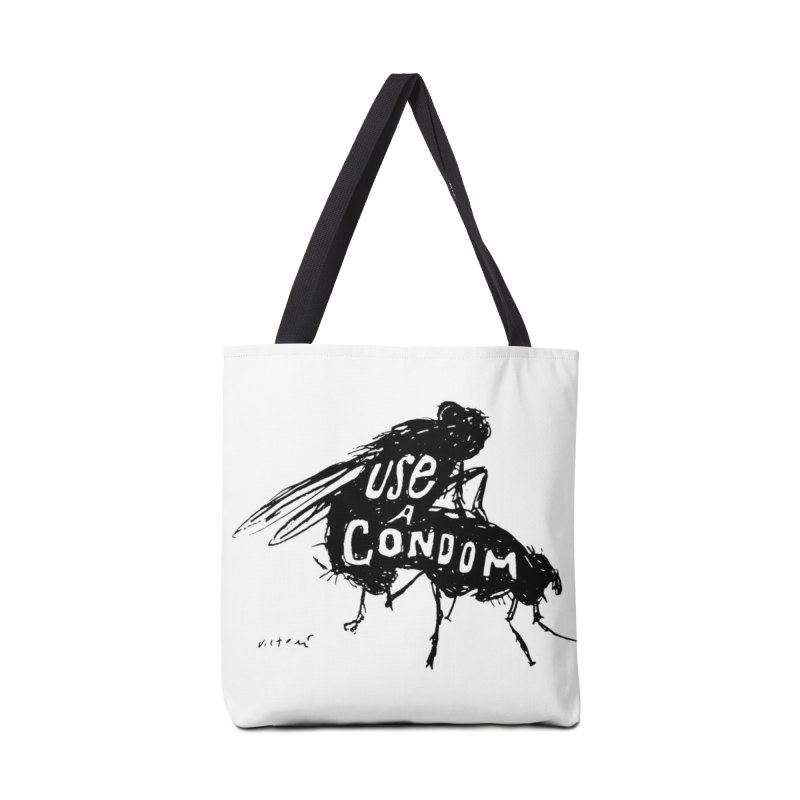 Use A Condom/Bugs Accessories Bag by James Victore's Artist Shop