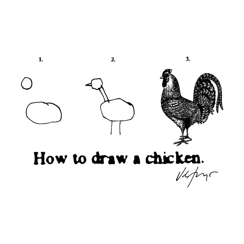 How To Draw A Chicken Men's T-Shirt by James Victore's Artist Shop
