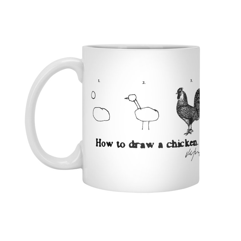 How To Draw A Chicken Accessories Standard Mug by James Victore's Artist Shop