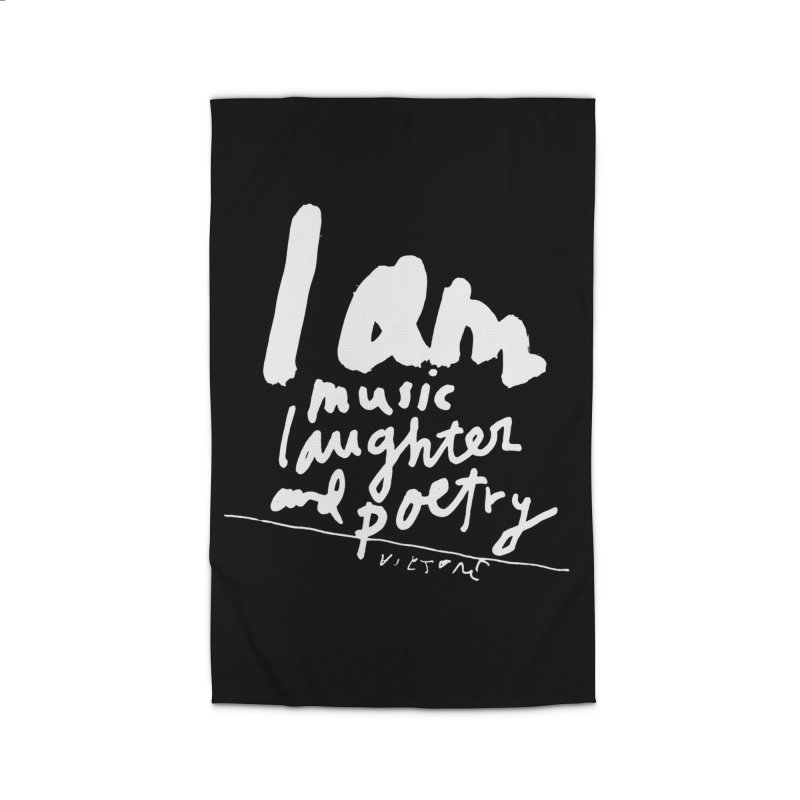 I Am Music, Laughter, And Poetry (Black)  Home Rug by James Victore's Artist Shop