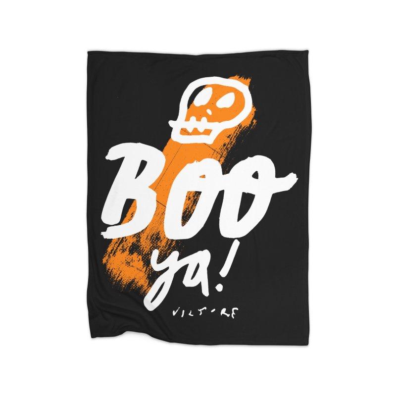 BOO Ya! (black)  Home Blanket by James Victore's Artist Shop