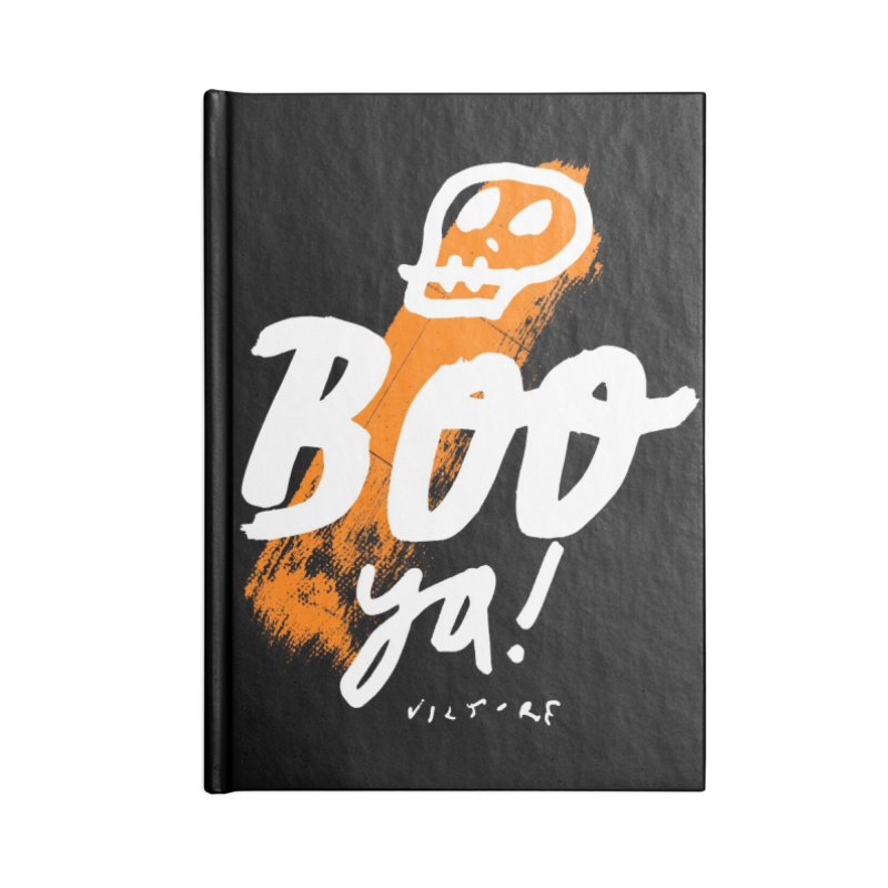 BOO Ya! (black)  Accessories Notebook by James Victore's Artist Shop
