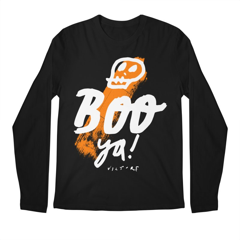 BOO Ya! (black) Men's Regular Longsleeve T-Shirt by James Victore's Artist Shop