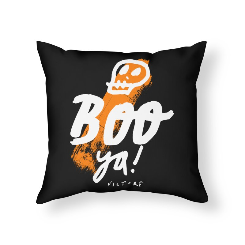 BOO Ya! (black) Home Throw Pillow by James Victore's Artist Shop