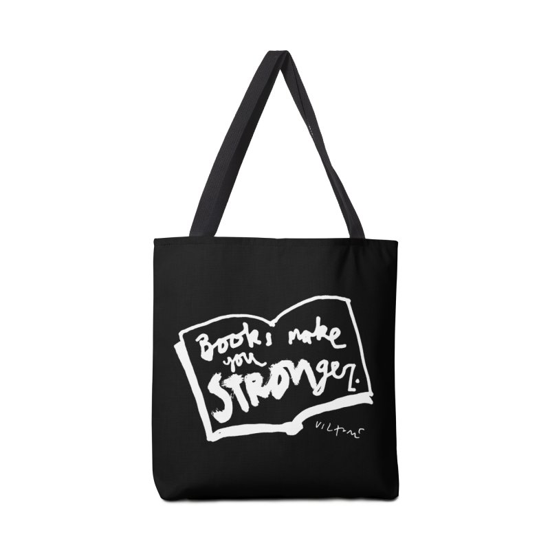 Books Make You Stronger (black) Accessories Bag by James Victore's Artist Shop