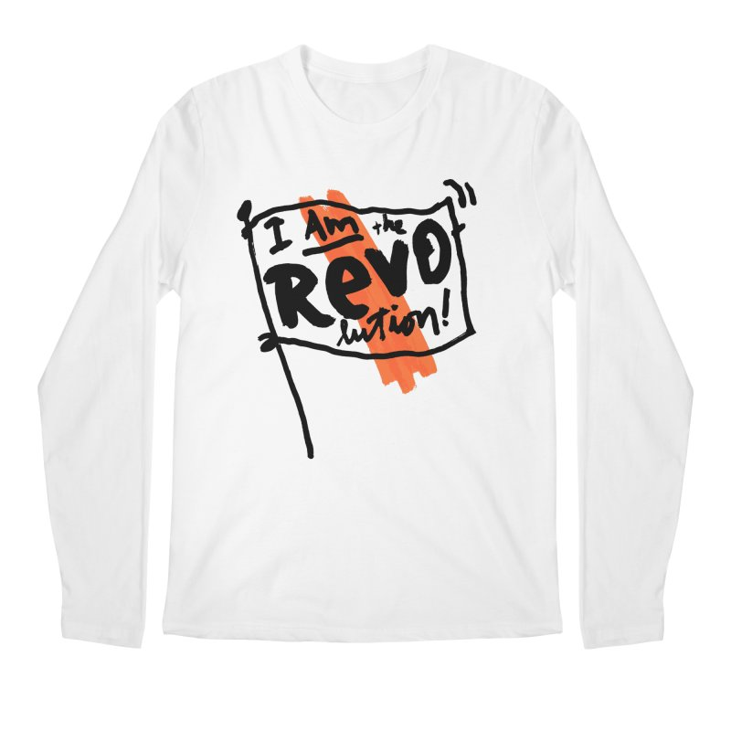 I Am The Revolution Men's Regular Longsleeve T-Shirt by James Victore's Artist Shop