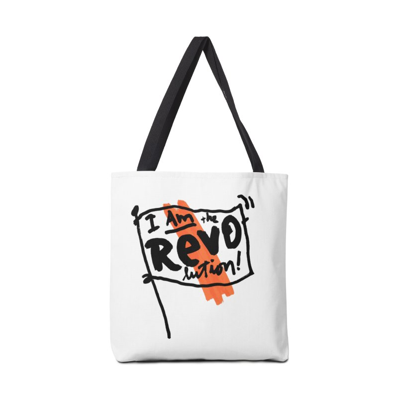 I Am The Revolution Accessories Bag by James Victore's Artist Shop