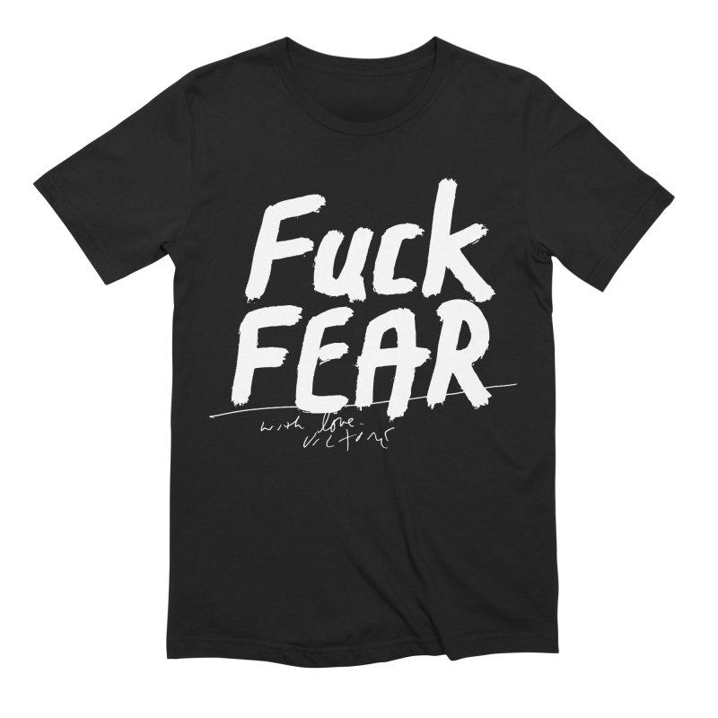 Fuck Fear (black) Men's T-Shirt by James Victore's Artist Shop