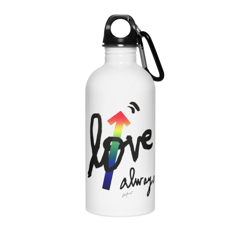 Love Always Accessories Water Bottle by James Victore's Artist Shop