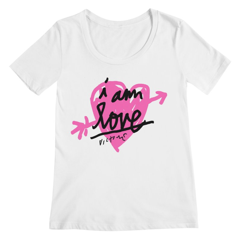 I am Love Women's Regular Scoop Neck by James Victore's Artist Shop