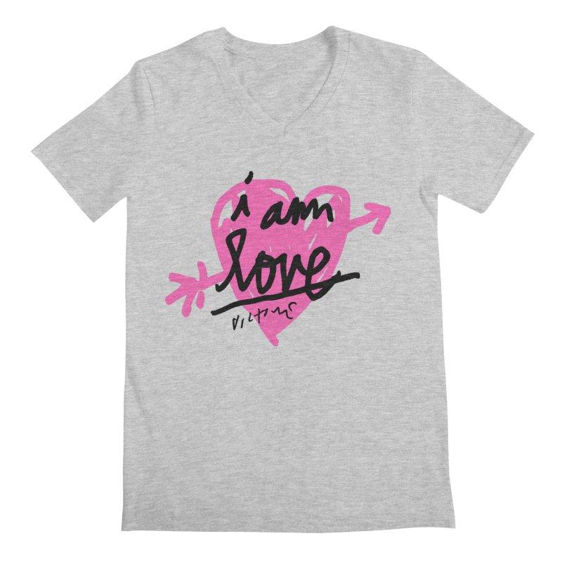 I am Love Men's Regular V-Neck by James Victore's Artist Shop