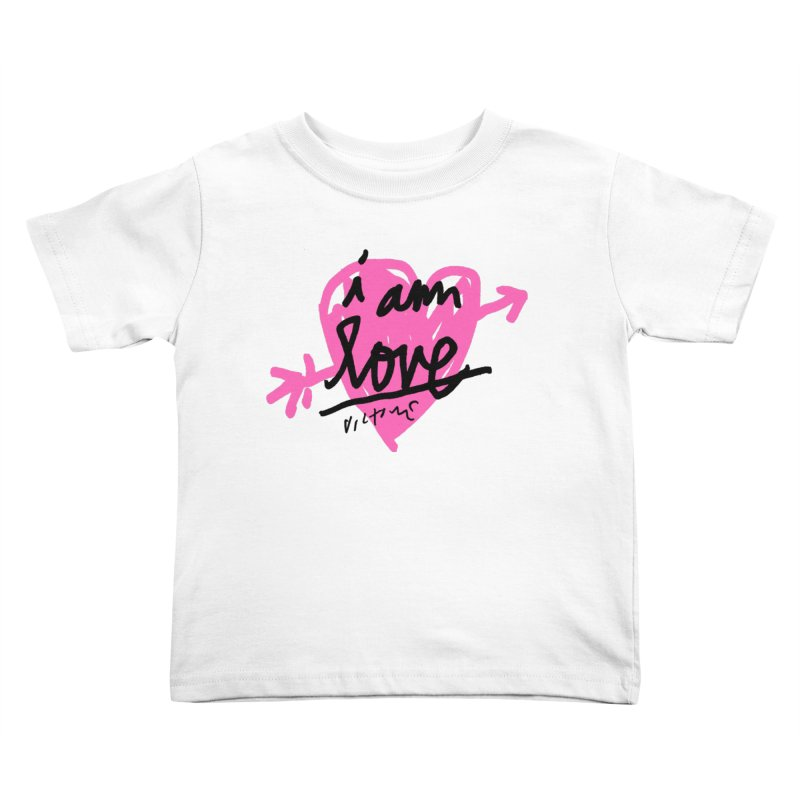 I am Love Kids Toddler T-Shirt by James Victore's Artist Shop