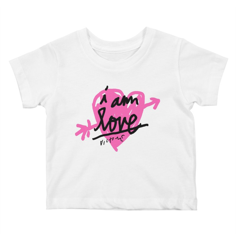 I am Love Kids Baby T-Shirt by James Victore's Artist Shop