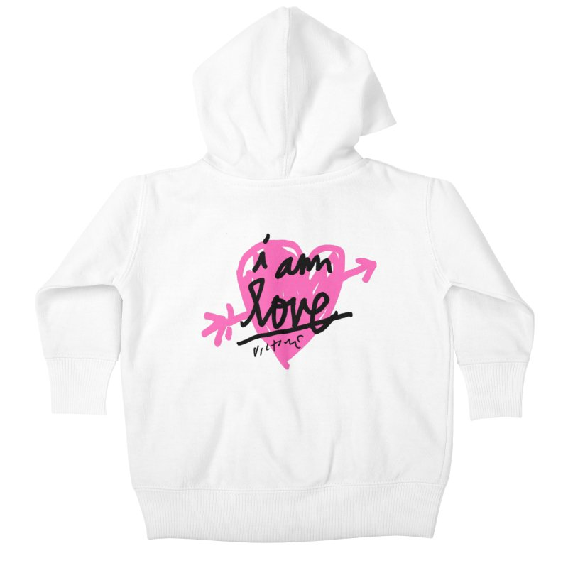 I am Love Kids Baby Zip-Up Hoody by James Victore's Artist Shop