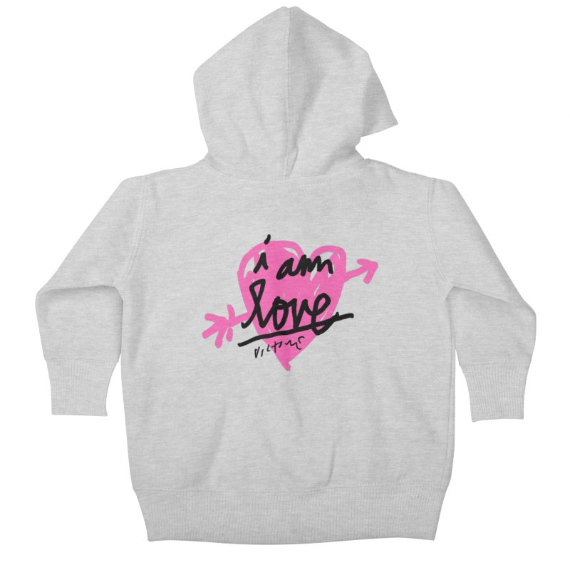 I am Love Kids Baby Zip-Up Hoody by James Victore's Artist Shop