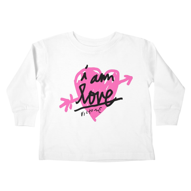 I am Love Kids Toddler Longsleeve T-Shirt by James Victore's Artist Shop