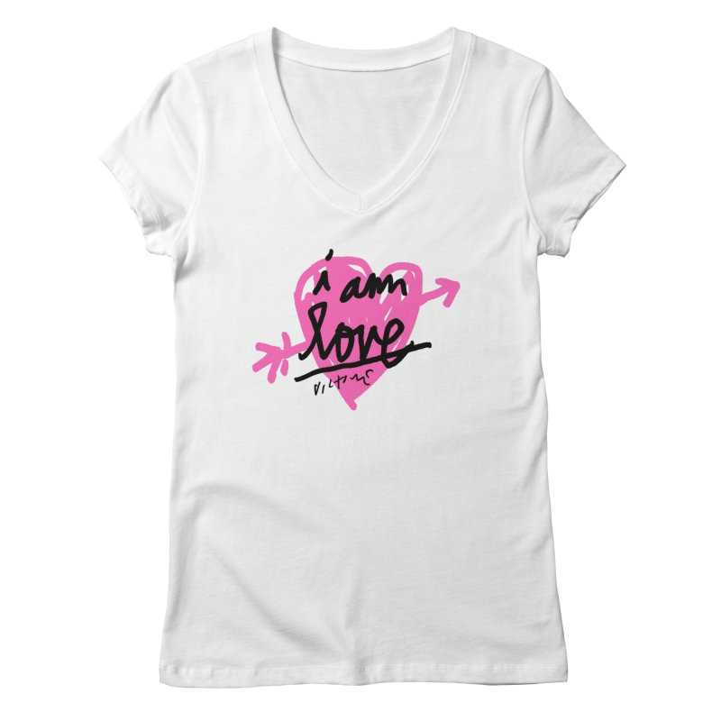 I am Love Women's V-Neck by James Victore's Artist Shop