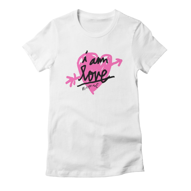 I am Love Women's Fitted T-Shirt by James Victore's Artist Shop