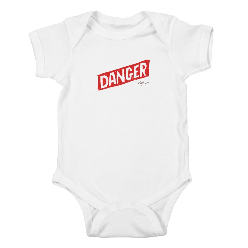 Danger Kids Baby Bodysuit by James Victore's Artist Shop