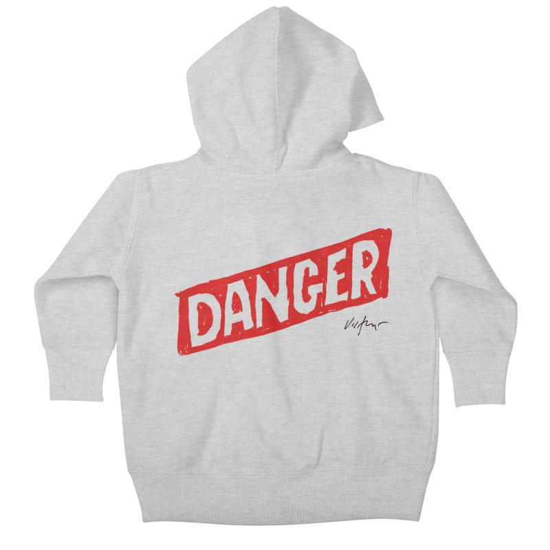 Danger Kids Baby Zip-Up Hoody by James Victore's Artist Shop