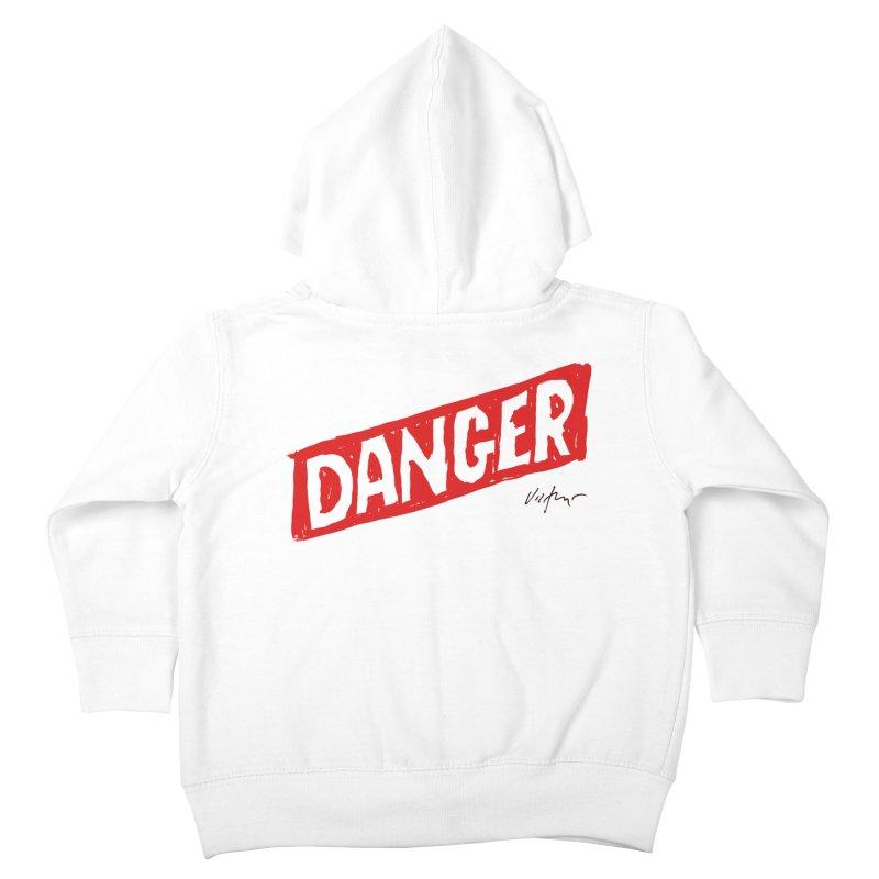 Danger Kids Toddler Zip-Up Hoody by James Victore's Artist Shop