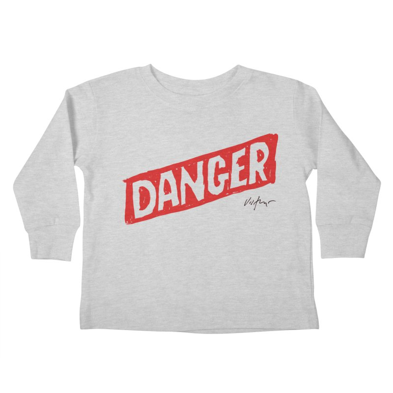 Danger Kids Toddler Longsleeve T-Shirt by James Victore's Artist Shop