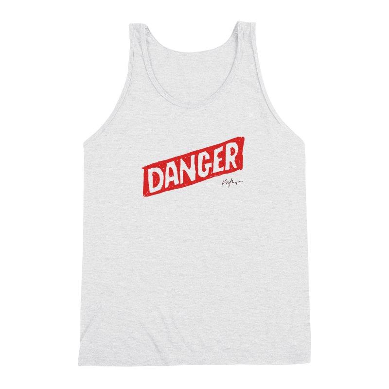 Danger Men's Triblend Tank by James Victore's Artist Shop