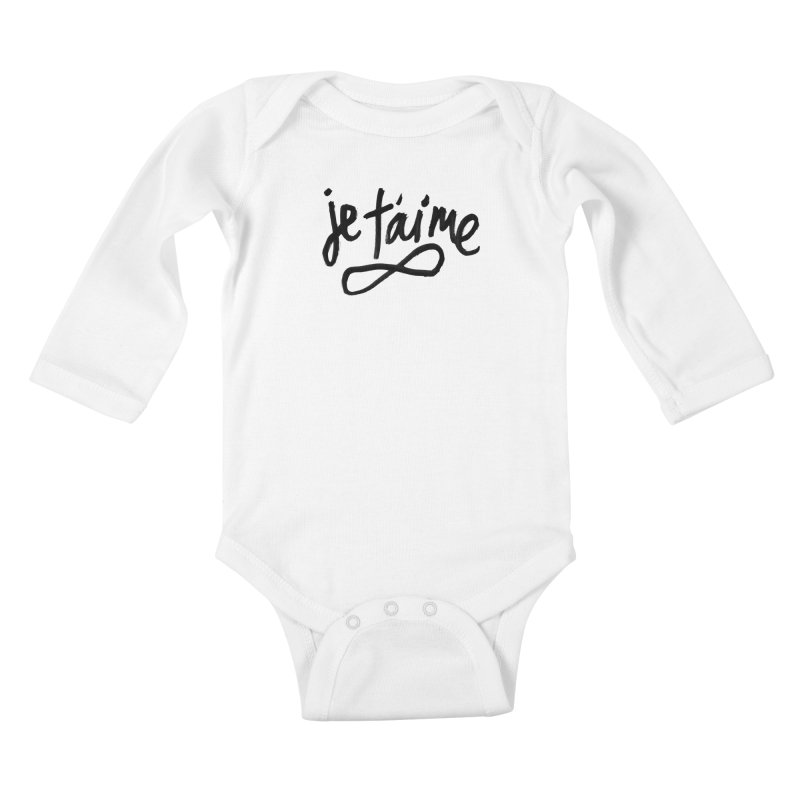 Je T'aime Kids Baby Longsleeve Bodysuit by James Victore's Artist Shop