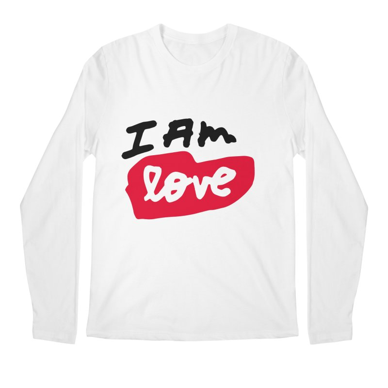 I AM: Love Men's Regular Longsleeve T-Shirt by James Victore's Artist Shop