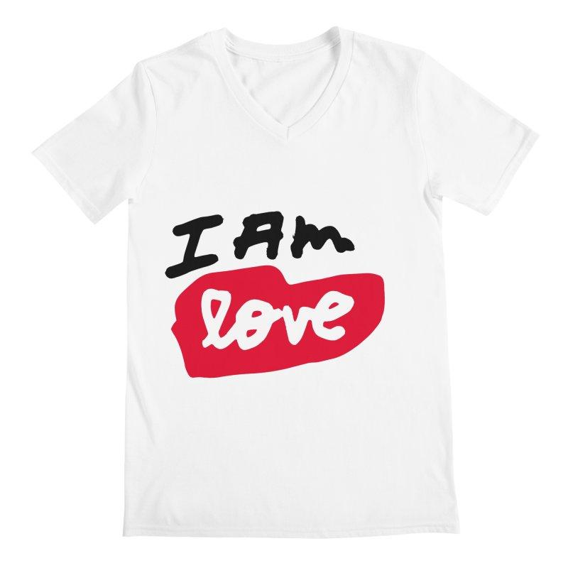 I AM: Love Men's Regular V-Neck by James Victore's Artist Shop