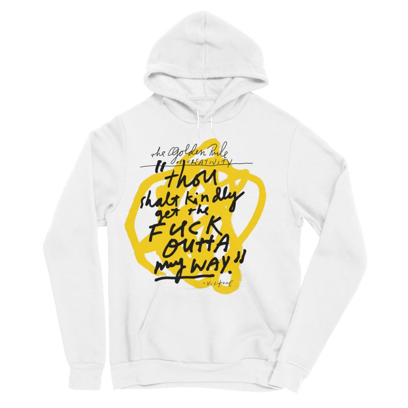 The Golden Rule of Creativity Women's Sponge Fleece Pullover Hoody by James Victore's Artist Shop