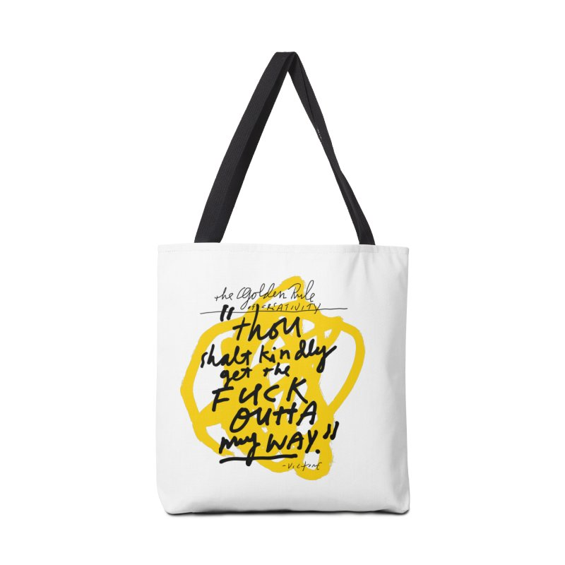The Golden Rule of Creativity Accessories Tote Bag Bag by James Victore's Artist Shop