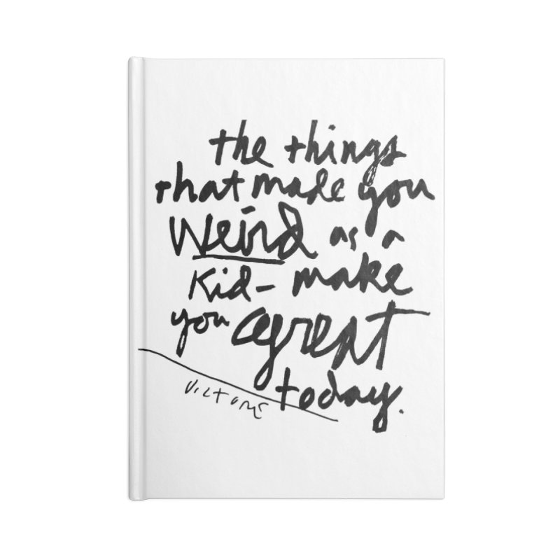 Weird Kid Accessories Blank Journal Notebook by James Victore's Artist Shop