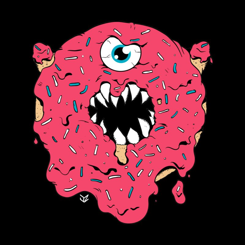 Demon Donut (pink) Kids Toddler Zip-Up Hoody by James Zintel