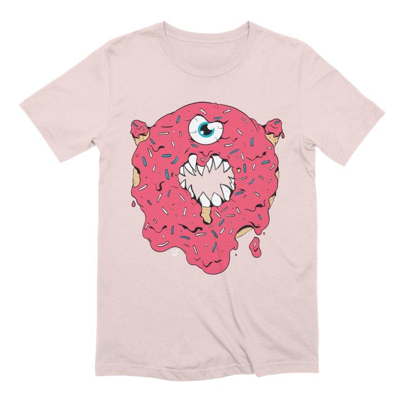 Demon Donut (pink) Men's T-Shirt by James Zintel