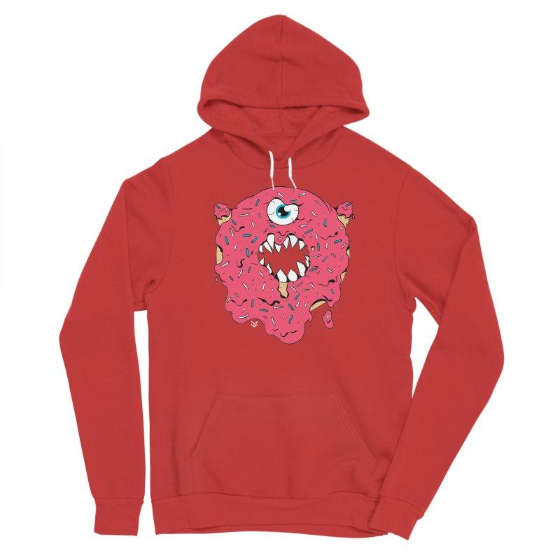 Demon Donut (pink) Men's Pullover Hoody by James Zintel