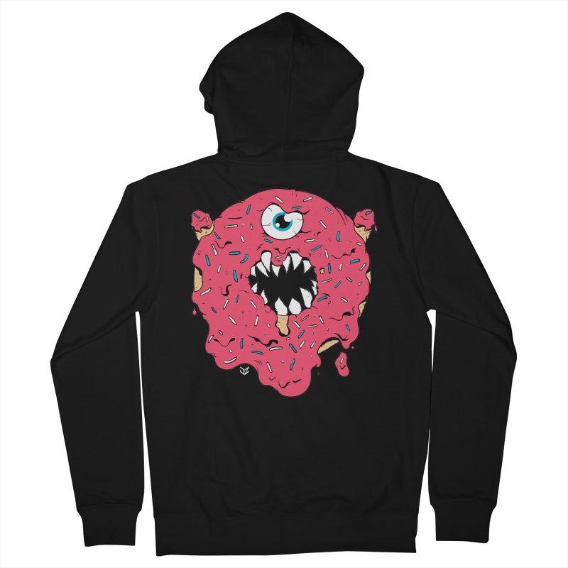 Demon Donut (pink) Men's Zip-Up Hoody by James Zintel