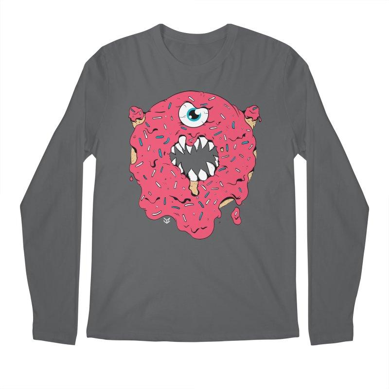 Demon Donut (pink) Men's Longsleeve T-Shirt by James Zintel