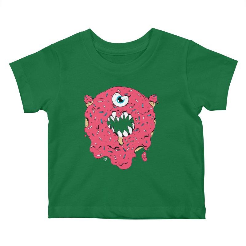 Demon Donut (pink) Kids Baby T-Shirt by James Zintel
