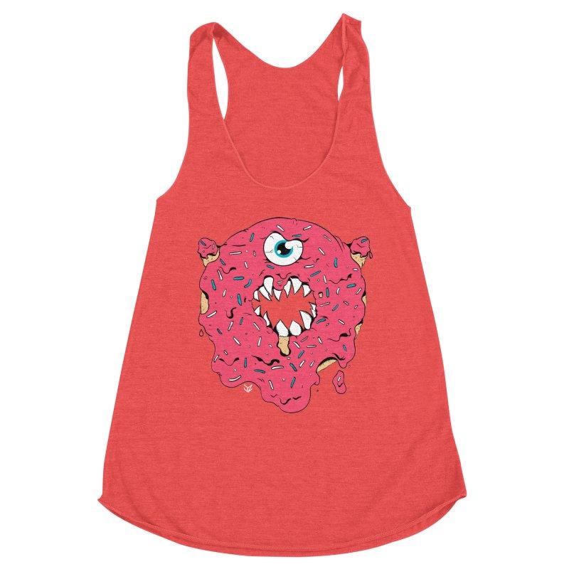 Demon Donut (pink) Women's Tank by James Zintel