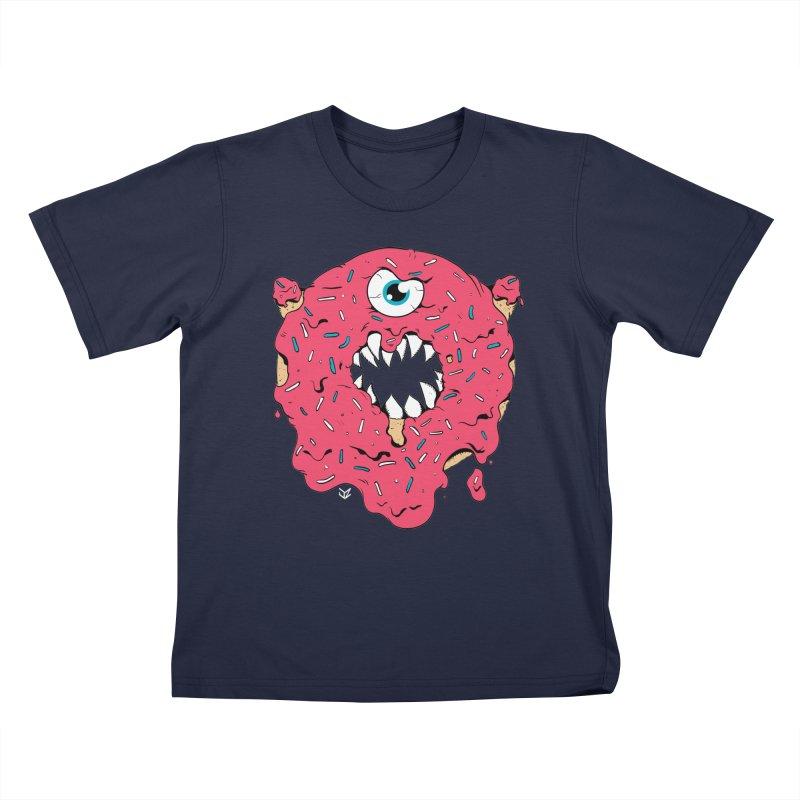Demon Donut (pink) Kids T-Shirt by James Zintel