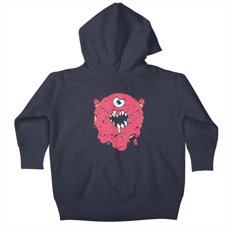 Demon Donut (pink) Kids Baby Zip-Up Hoody by James Zintel