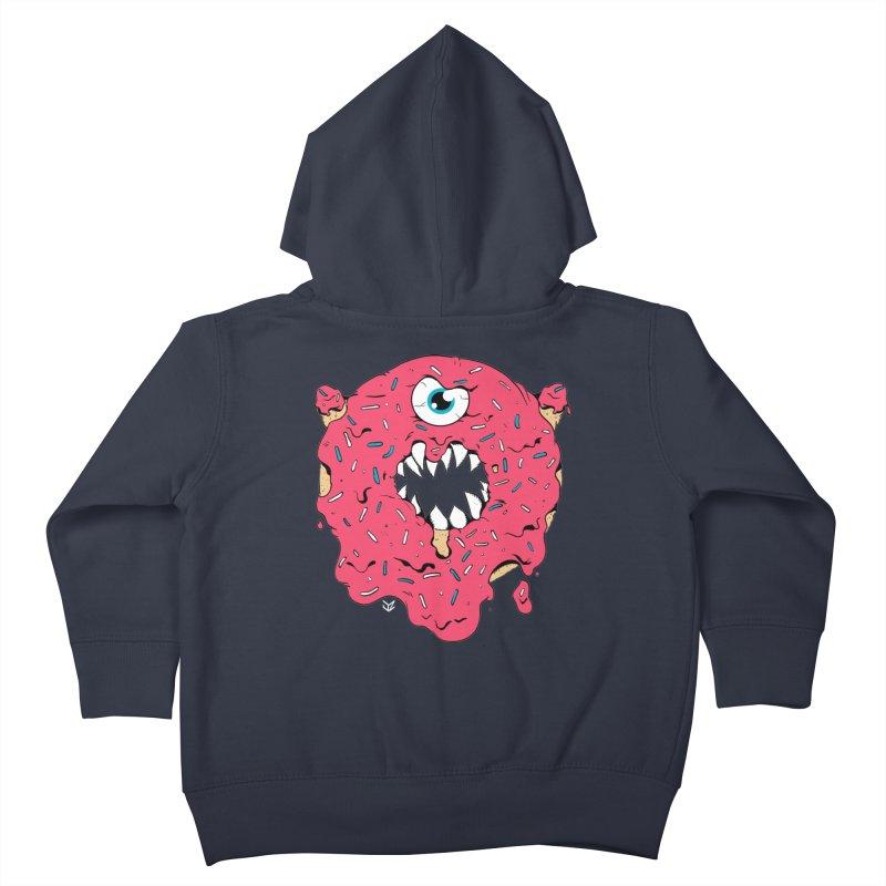 Demon Donut (pink) Kids Toddler Zip-Up Hoody by James Zintel