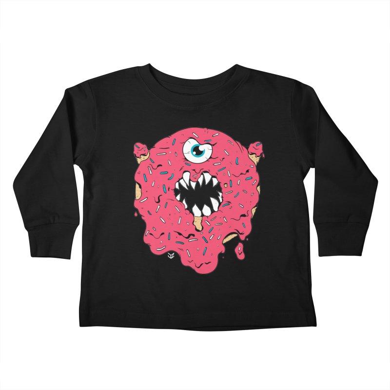 Demon Donut (pink) Kids Toddler Longsleeve T-Shirt by James Zintel