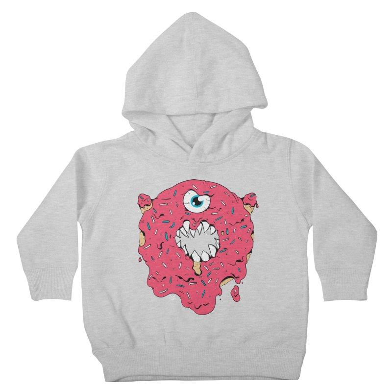 Demon Donut (pink) Kids Toddler Pullover Hoody by James Zintel